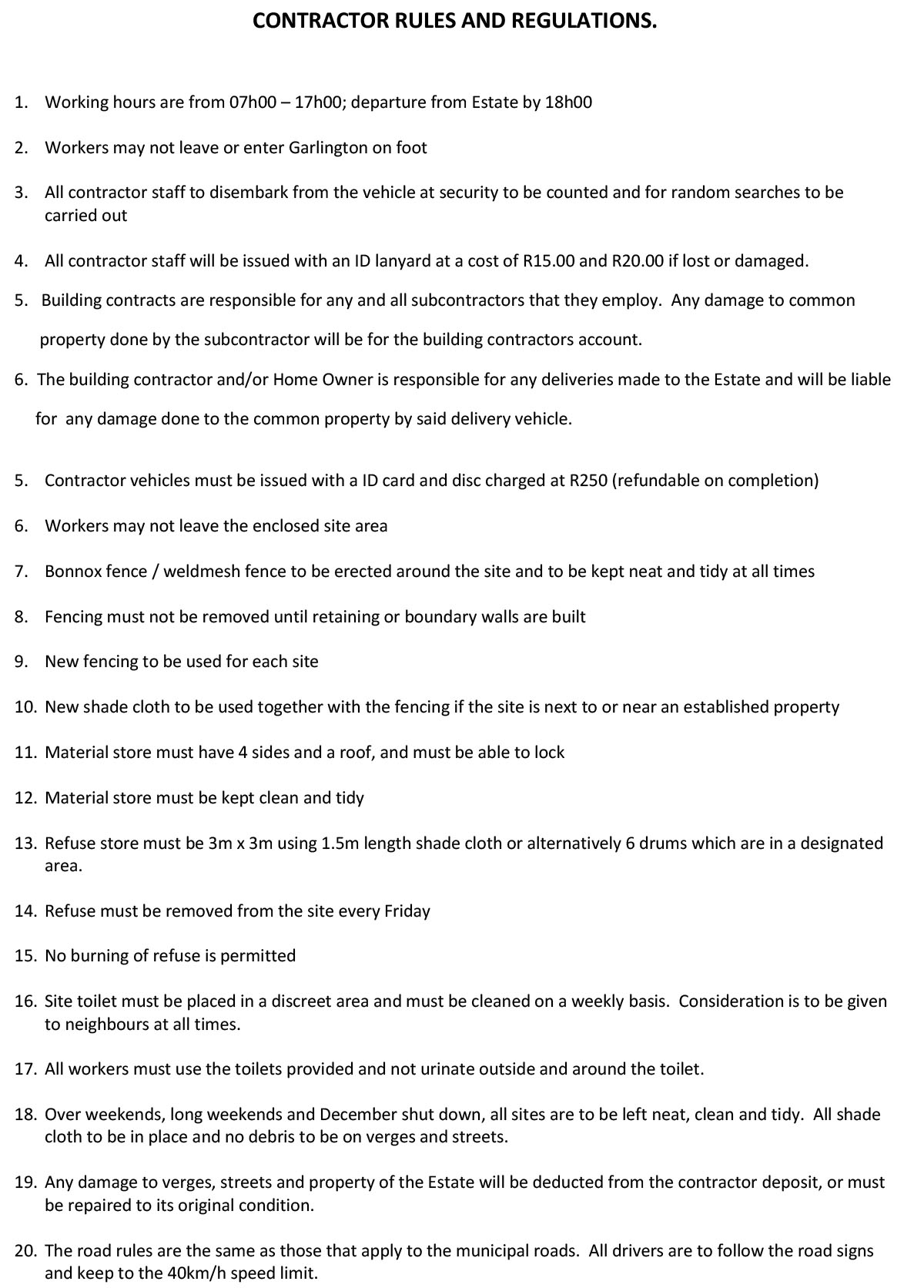 contractors-rules-and-regulations-garlington-midlands-housing-estate-2013